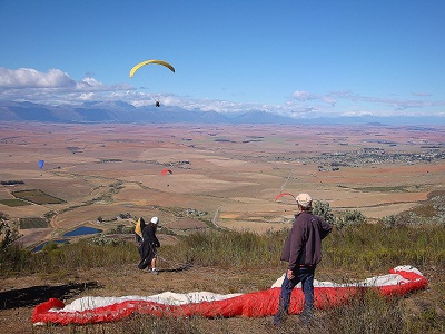Porterville Paragliding - Flying from Piketberg.