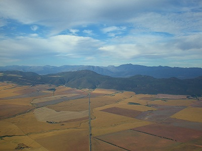 Paragliding Porterville - Flatlands from the air