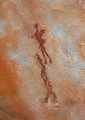 Porterville South Africa - Bushman rock painting.